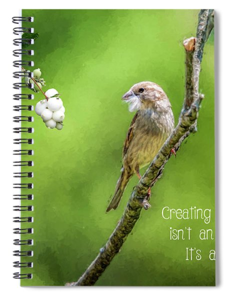 Feathering The Nest Spiral Notebook