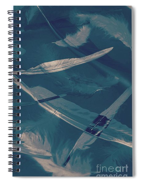 Feathers Floating In The Air Spiral Notebook