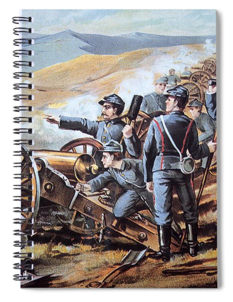 Federal Field Artillery In Action During The American Civil War  Spiral Notebook