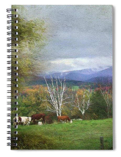 Feeding On A Hillside Spiral Notebook