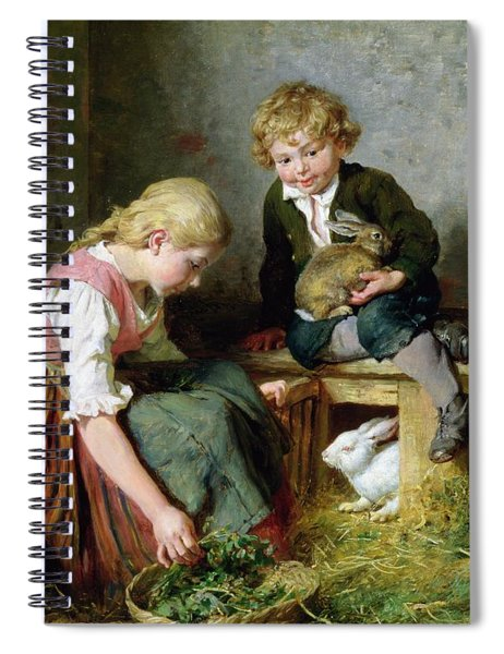 Feeding The Rabbits Spiral Notebook