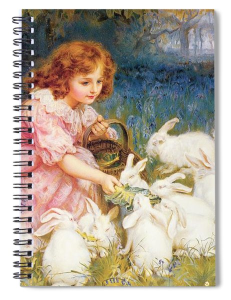 Feeding The Rabbits Spiral Notebook