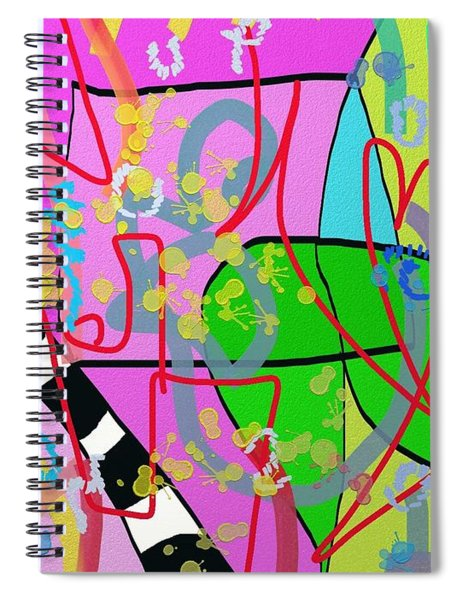 Feeling The Spring Spiral Notebook
