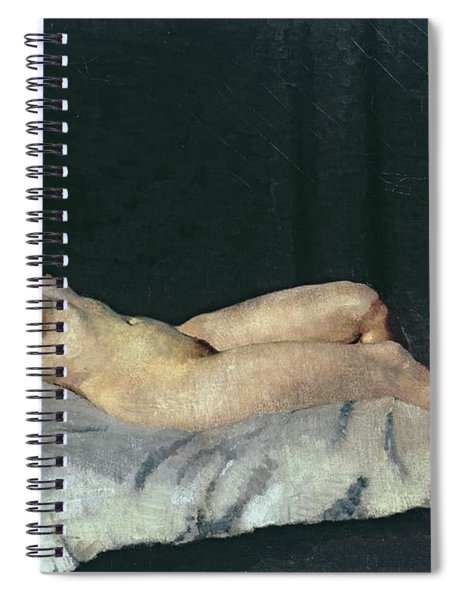 Female Figure Lying On Her Back Spiral Notebook