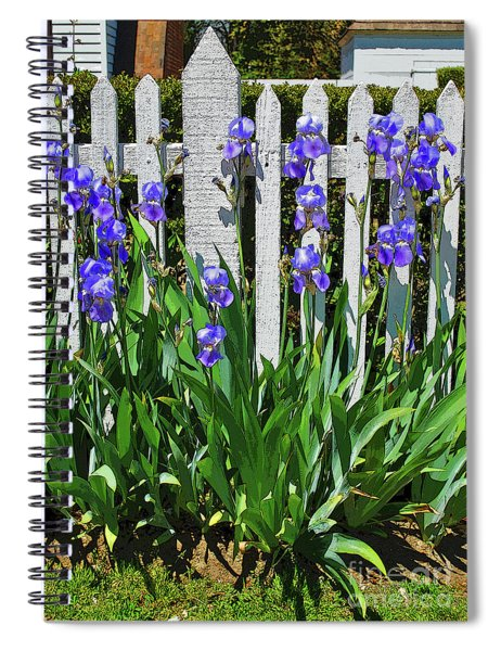 Fence In Purple Spiral Notebook