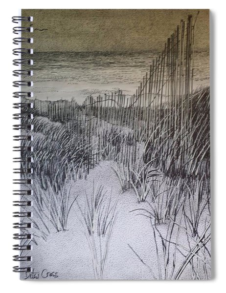 Fence In The Dunes Spiral Notebook