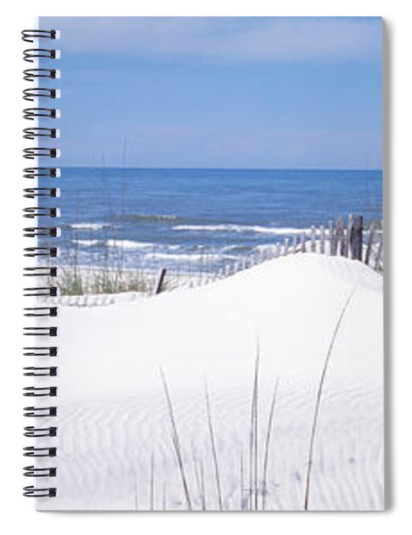 Fence On The Beach, Gulf Of Mexico, St Spiral Notebook