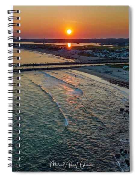 Fenway Beach Sunset Spiral Notebook