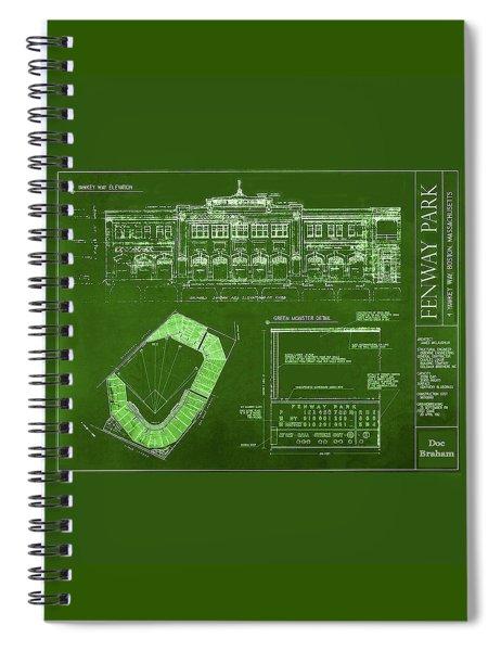 Fenway Park Blueprints Home Of Baseball Team Boston Red Sox Spiral Notebook