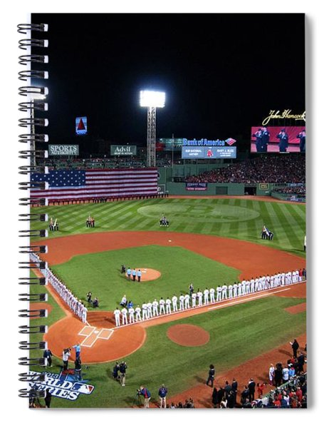 Spiral Notebook featuring the photograph Fenway Park World Series 2013 by Movie Poster Prints