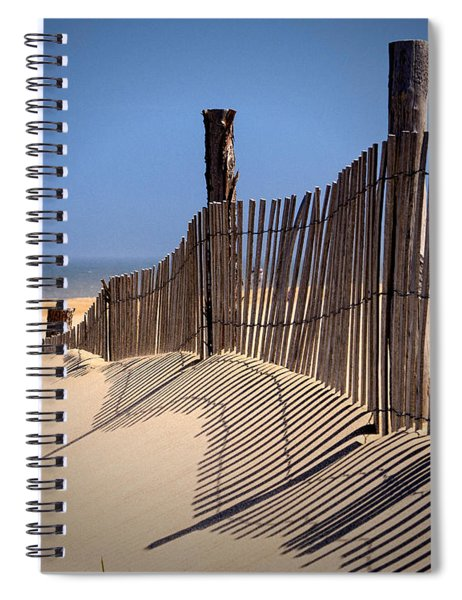 Fenwick Dune Fence And Shadows Spiral Notebook