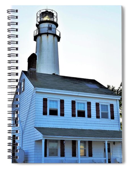 Fenwick Island Lighthouse And Keeper Home Spiral Notebook