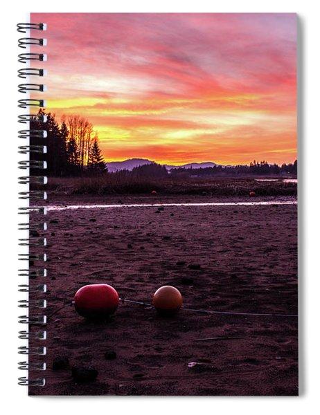 Fern Ridge Sunset 2 Spiral Notebook