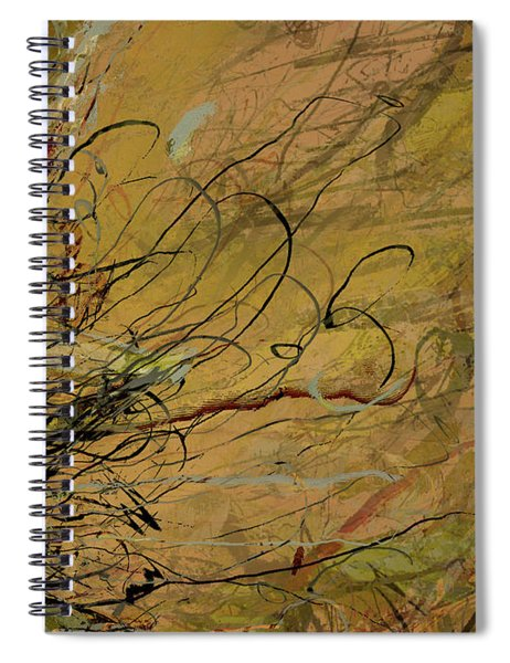 Fern Series Ping To Gray Tendril Detail Spiral Notebook