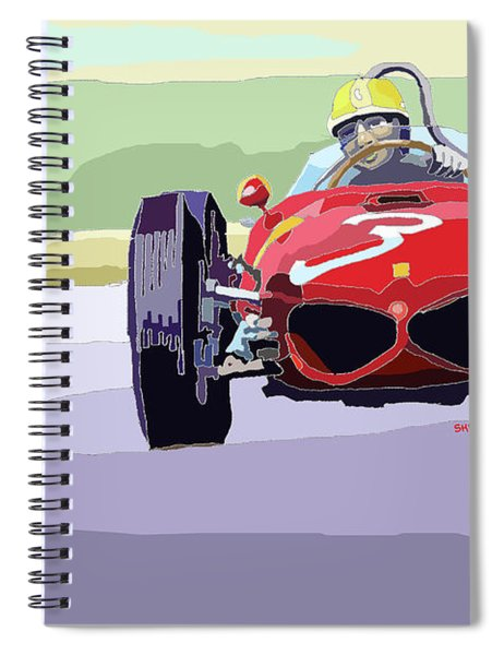 Ferrari 156 Dino 1962 Dutch Gp Spiral Notebook