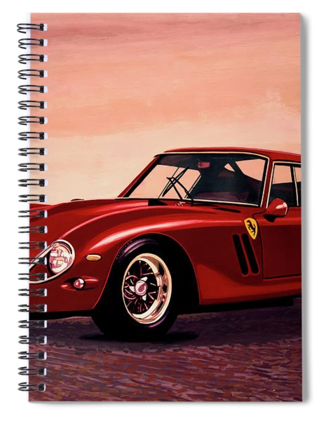 Ferrari 250 Gto 1962 Painting Spiral Notebook