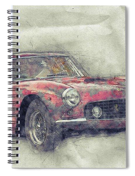 Ferrari 250gt Berlinetta 1 - Tour De France - Sports Car - Automotive Art - Car Posters Spiral Notebook