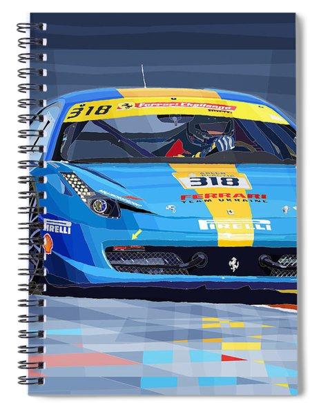Ferrari 458 Challenge Team Ukraine 2012 Variant Spiral Notebook
