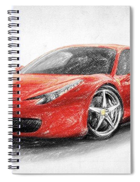 Ferrari 458 Italia Spiral Notebook