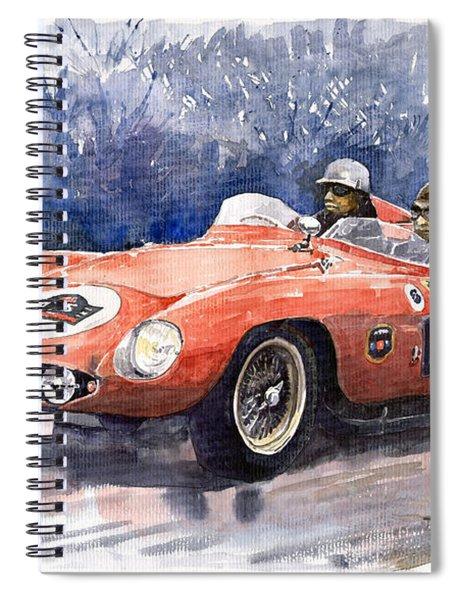 1953-1955 Ferrari 500 Mondial 1000 Miglia Spiral Notebook