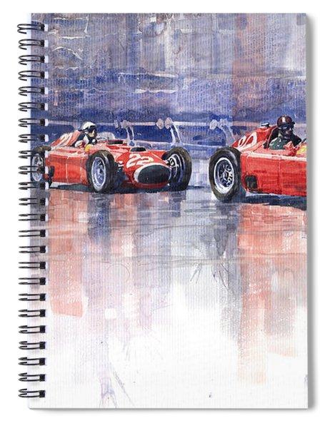 Ferrari D50 Monaco Gp 1956 Spiral Notebook