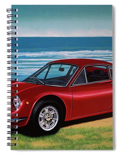 Ferrari Dino 246 Gt 1969 Painting Spiral Notebook