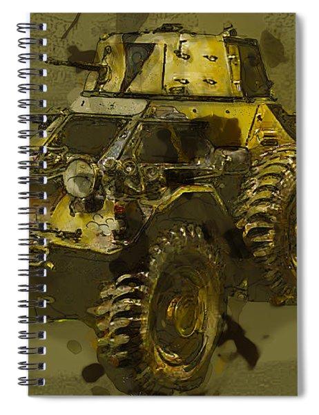 Ferret Scout Car Spiral Notebook