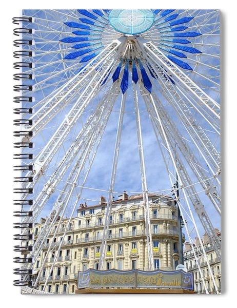 Ferris Wheel Marseille Spiral Notebook
