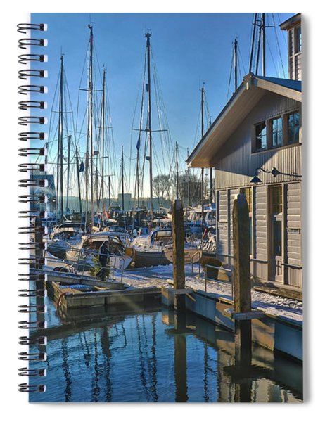 Ferry Harbour In Winter Spiral Notebook