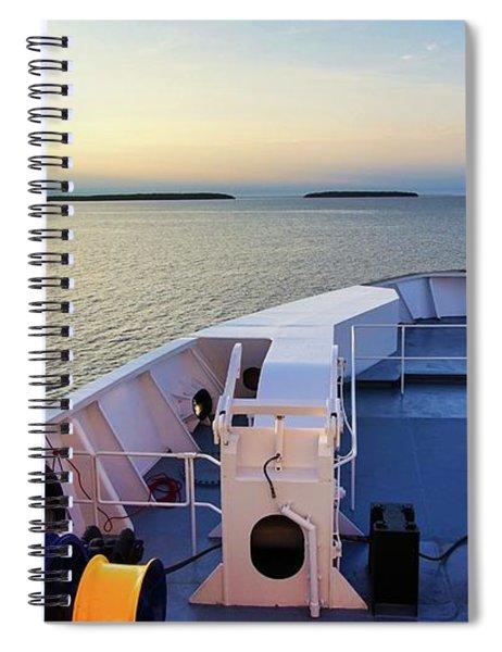 Ferry On Spiral Notebook