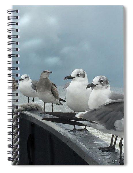 Ferry Passengers Spiral Notebook by Gina Harrison