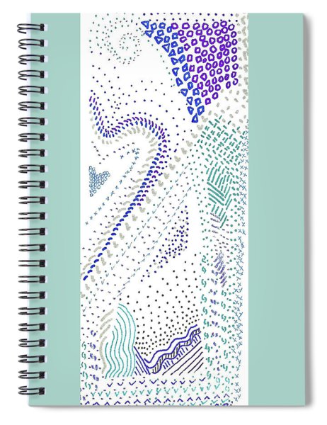 Festival In Blue And Silver Spiral Notebook