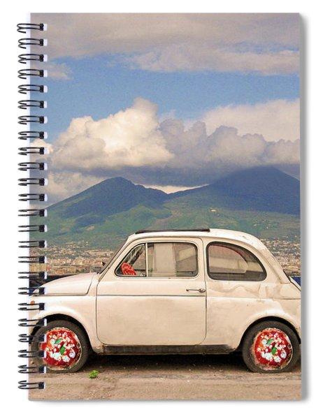 Fiat 500 Pizza Spiral Notebook