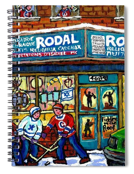 Fiddler On The Roof Painting Canadian Art Jewish Montreal Memories Rodal Gift Shop Van Horne Hockey  Spiral Notebook