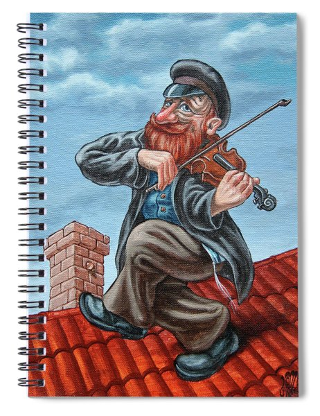 Fiddler On The Roof. Redhead Spiral Notebook