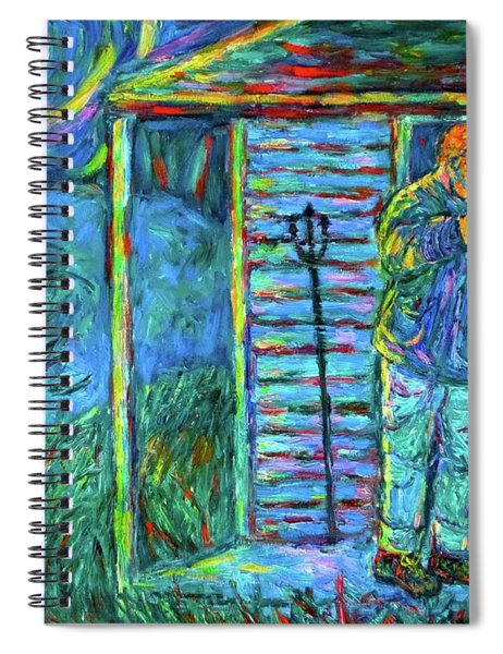 Fiddling At Midnight's Farm House Spiral Notebook
