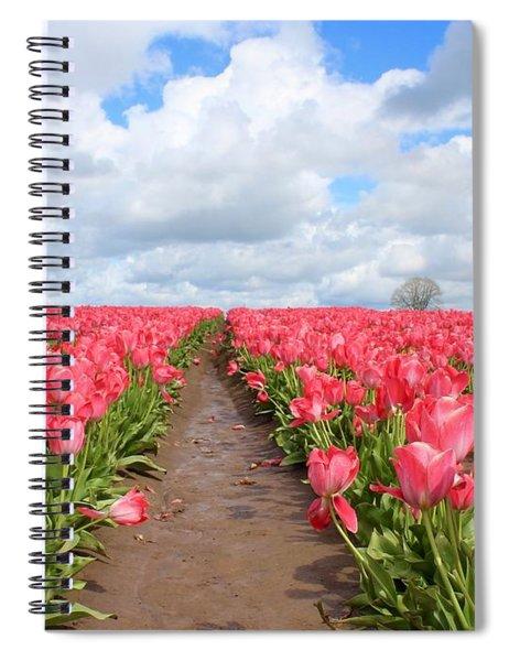 Field Of Pink Spiral Notebook