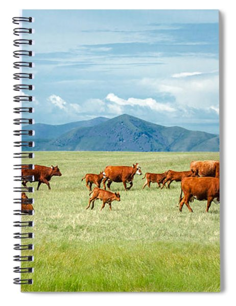 Field Of Reds Spiral Notebook