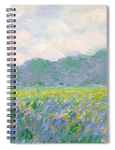 Field Of Yellow Irises At Giverny Spiral Notebook