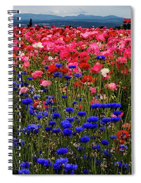 Fields Of Flowers Spiral Notebook