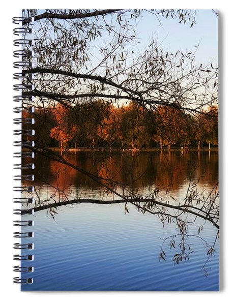 Fiery Colors On The Lake Spiral Notebook