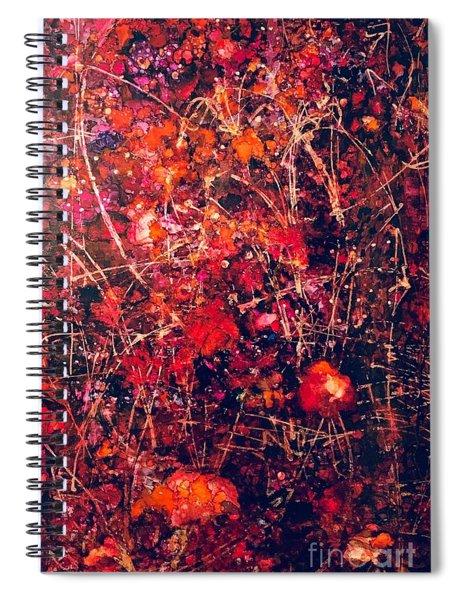 Fiery Crash Spiral Notebook