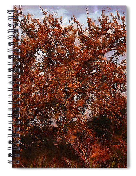 Fiery Elm Tree  Spiral Notebook