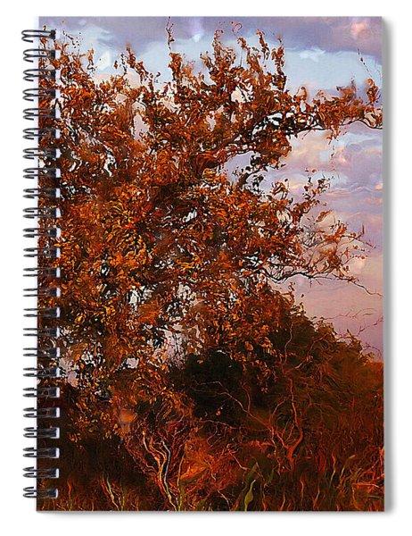 Fiery Elm Tree  Spiral Notebook