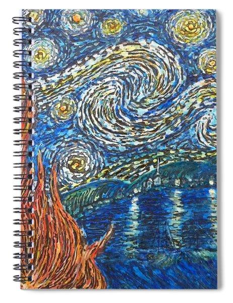 Fiery Night Spiral Notebook