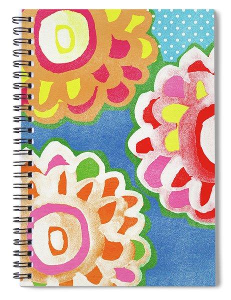Fiesta Floral 3- Art By Linda Woods Spiral Notebook