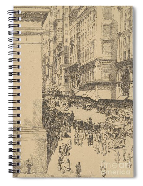 Fifth Avenue, Noon, 1916  Spiral Notebook