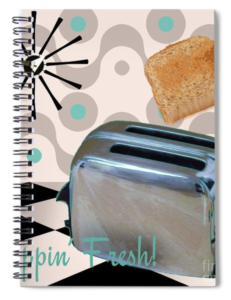 Fifties Kitchen Toaster Spiral Notebook