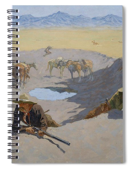 Fight For The Waterhole Spiral Notebook