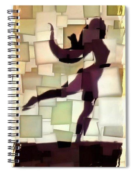 Figurative Dancer Spiral Notebook